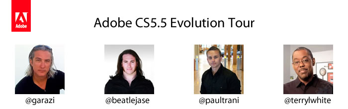 Adobe CS5.5 Evolution Tour