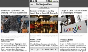 RIA móvil del New York Times