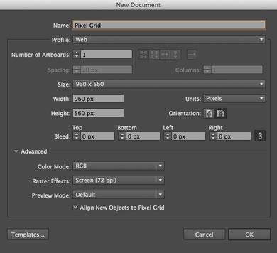 Novedades de Illustrator CC 2014 - Pixel Grid
