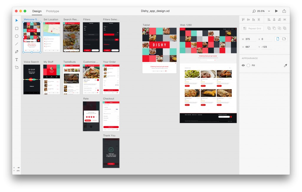 AdobeXD screenshot